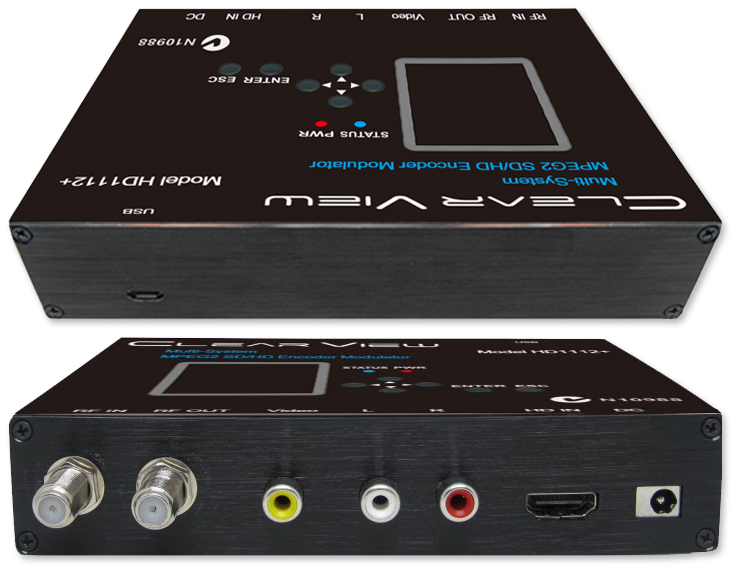 ClearView HD1112+ Multi-System MPEG2 SD/HD Digital Modulator - side view