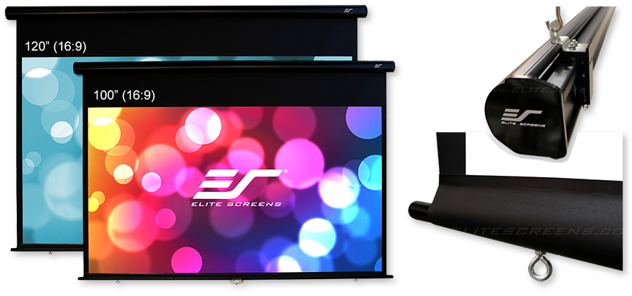 Elite Screens Yard Master IP65 Manual Pull Down Projection Screens