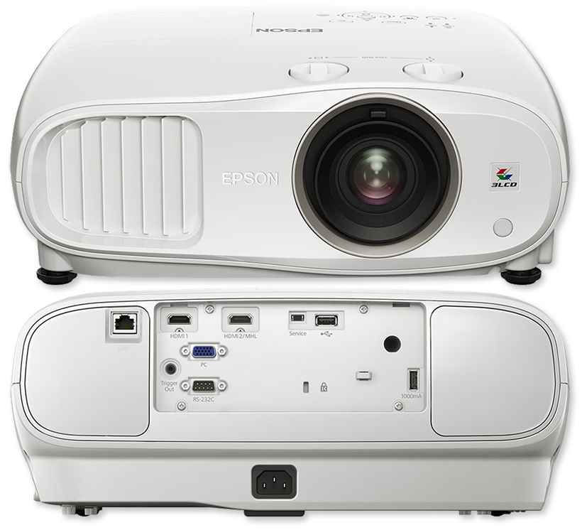 Epson EH-TW6800 2700 Lumens Full HD 3D Home Theatre LCD Projector