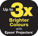 Epson Up to 3X brighter color