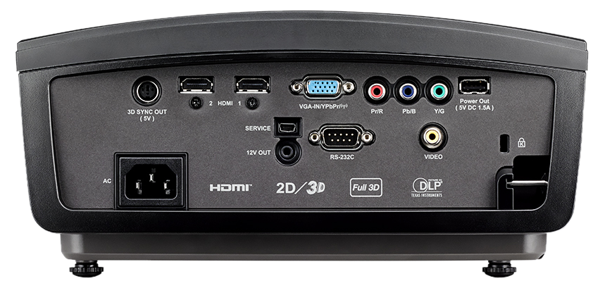 Optoma HD50 Rear