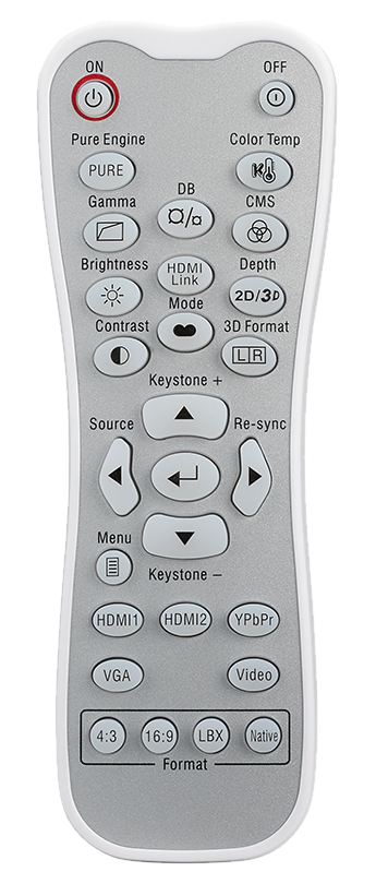 Optoma HD50 Remote