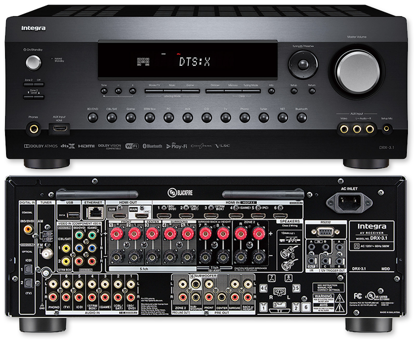 Integra DRX-3.1 7.2-Ch 4K HDR DTS:X & Dolby Atmos Network AV Receiver