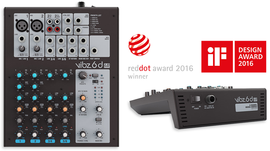LD Systems VIBZ6D 6-Channel Mixing Console With DFX