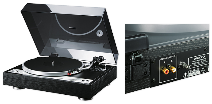 onkyo turntable. onkyo cp-1050 direct drive turntable n
