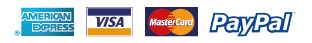 Payment options - Paypal, Visa, Mastercard, American Express