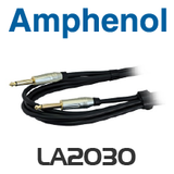Amphenol 6.35mm Mono TRS Plug to Plug Lead