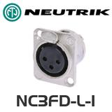 Neutrik DL Series 3 Pin XLR Panel Socket - Female
