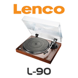 Lenco L-90 Wooden Turntable with USB & Built-in Pre-Amplifier