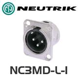 Neutrik DL Series 3 Pin XLR Panel Socket - Male