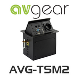 AVGear AVG-TSM2 Pop Up Tabletop Interface incl. 2 Network, HDMI, VGA, Audio & Power