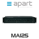Apart MA125 Professional Public Address Mixing Amplifier