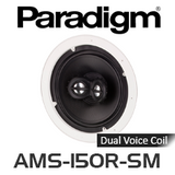 "Paradigm AMS-150R-SM 8"" Low Profile Bezel Dual-Voice Coil In-Ceiling Speakers (Each)"