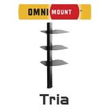 OmniMount Tria 3-Shelf AV Wall Mount Shelfs