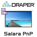 Draper Salara Motorised IR Plug & Play Projection Screen (Matt White)