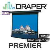 Draper Premier Motorised Tensioned incl. Low Voltage Control Switch Projection Screen
