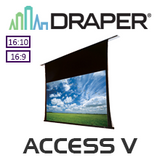 Draper Access V In-Ceiling Recessed Tensioned incl. Low Voltage Control Switch (Matt White)