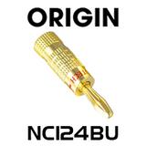 Origin NC124BU Premier 24K Gold Plated Banana Plug - Blue