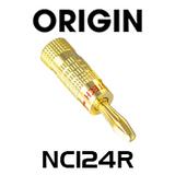 Origin NC124R Premier 24K Gold Plated Banana Plug - Red