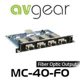 AVGear MC-4O-FO 4 Optical Fiber Output Card Supports 4K