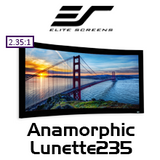 Elite Screens Anamorphic Lunette235 Curved Fixed Frame 2.35:1 Projection Screens