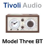 Tivoli Model Three Bluetooth AM / FM Analog Clock Table Radio