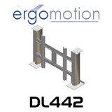 ergomotion motiontv dl442 electric tv lift for up to 650mm height tvs