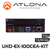Atlona 4K UHD HDMI Over 100M HDBaseT TX/RX with Ethernet, Control and PoE & Return Optical Audio
