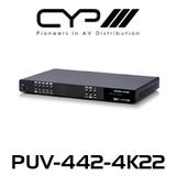 CYP 4x6 HDMI HDBaseT™ Matrix with Audio Matricing (4K, HDCP2.2, HDMI2.0, PoH, LAN, OAR, 100m)