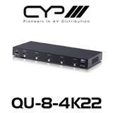 CYP 1 to 8 HDMI Distribution Amplifier (4K, HDCP2.2, HDMI2.0)