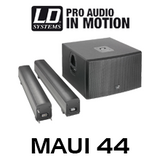 "LD Systems MAUI44 Dual 12"" 1600W Column PA System w/ LECC DSP"