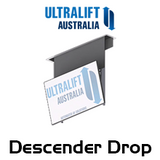 Ultralift Descender Drop With Auto Tilt Ceiling TV Lift