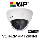 VIP Vision 2.0MP IP66 IK10 4x Zoom Mini PTZ Dome IP Camera