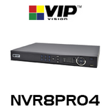 VIP Vision Professional 8 Channel Network Video Recorder with PoE (256Mbps)