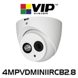 VIP Vision 4.0MP IP67 H.265 WDR Infrared Fixed Mini Dome IP Camera (Audio+SD)
