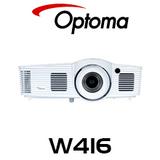 Optoma W416 WXGA 4500 Lumens Medium Venue DLP Projector