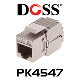 Doss PK4547 Shielded Cat6A Socket Keystone (30 pcs)