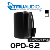 "TruAudio OPD-6.2 6.5"" Injected Poly Dual Voice Weather Proof Outdoor Speaker With Bracket (Each)"