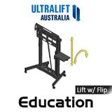 "Ultralift Education 60-90"" Flat Display Trolley Lift With Flip"
