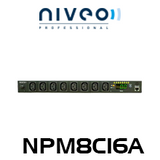 "Niveo NPM8C16A 8-Way C13 19"" PDU Metered & Switched"
