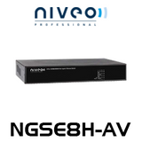 Niveo NGSE8H-AV 8 Rear Port Gigabit Ethernet Switch With PoE+
