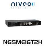 Niveo NGSME16T2H 16-Port Gigabit L2 Managed PoE Switch With 2 SFP Slots