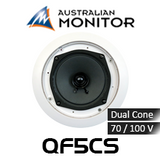 "Australian Monitor QF5CS 5"" 70/100V QuickFit Dual Cone In-Ceiling Speaker (Each)"