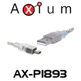 Axium AX-P1893 3m A Male to Mini Male USB 2.0 Patch Lead