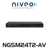 Niveo NGSM24T2-AV 24 Rear Port Gigabit L2+ Managed Switch With 2 SFP Slots