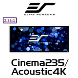 "Elite Screens Cinema235 2.35:1 Fixed Frame Projection Screens (85-158"")"