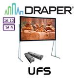 "Draper Ultimate Folding Portable Projection Screen (95-220"")"