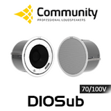"""Community D10Sub 10"""" 70/100V High Output In-Ceiling Subwoofer (Pair)"""