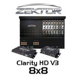 Zektor Clarity HD V3 8x8 HDMI Over HDBaseT Matrix With SoloCAT HD Receivers
