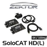 Zektor SoloCAT HD HDMI Over HDBaseT PoE Extender Set (up to 64/100m)